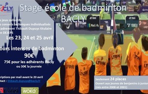 Stage jeunes au Bacly